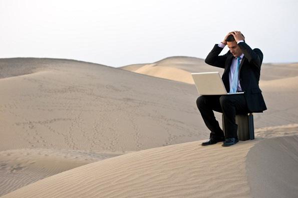soledad en el desierto.