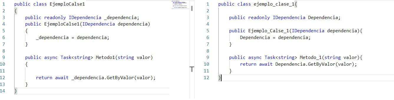 uniformidad en el código