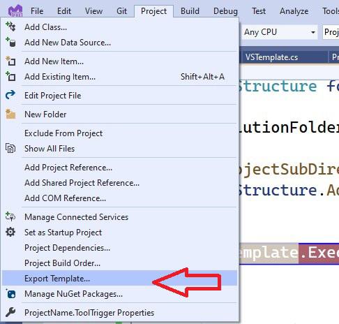 exportar template