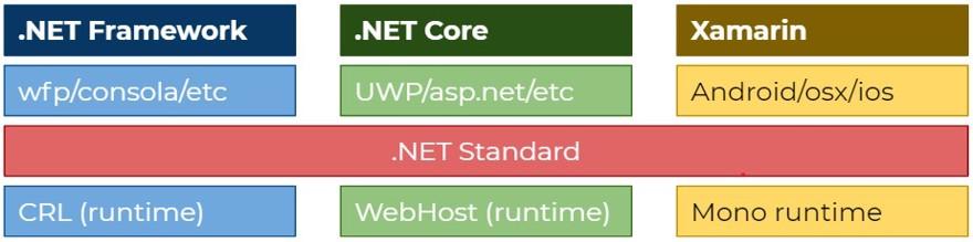 explicación net standard
