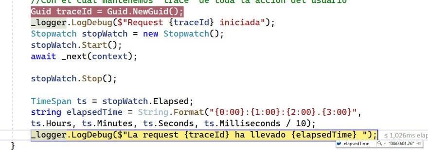resultado middleware .net
