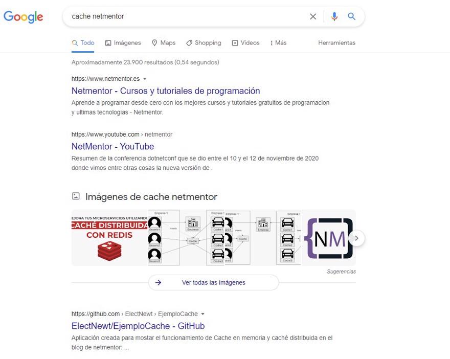 cache netmentor en google