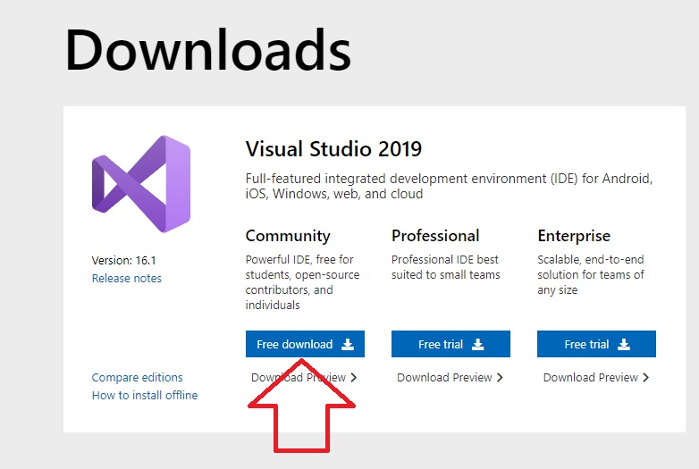 descargar visual studio 2019
