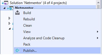 publicar aplicacion asp.net core