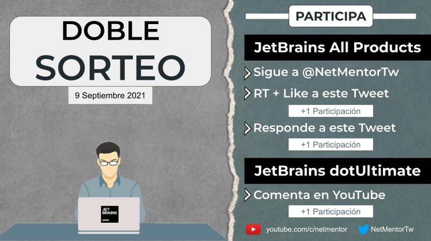 Sorteo NetMentor JetBrains todos los productos