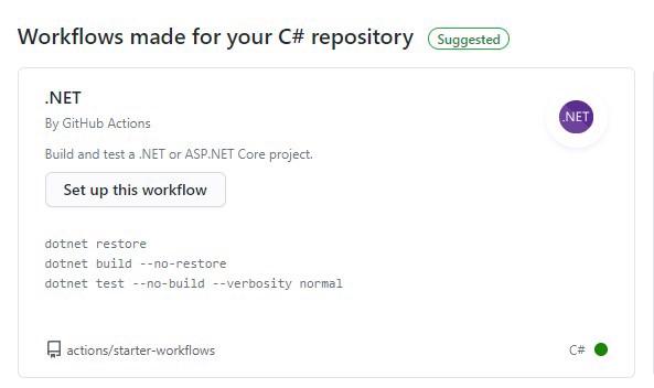 .net default workflow