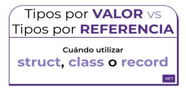 Aprende la diferencia entre tipos por valor y tipos por referencia utilizando c# como ejemplo.